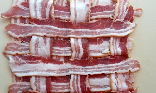 How to make a Bacon Weave: Step-by-Step streaky bacon weaving